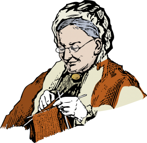 Положение на ръцете при плетене на две игли