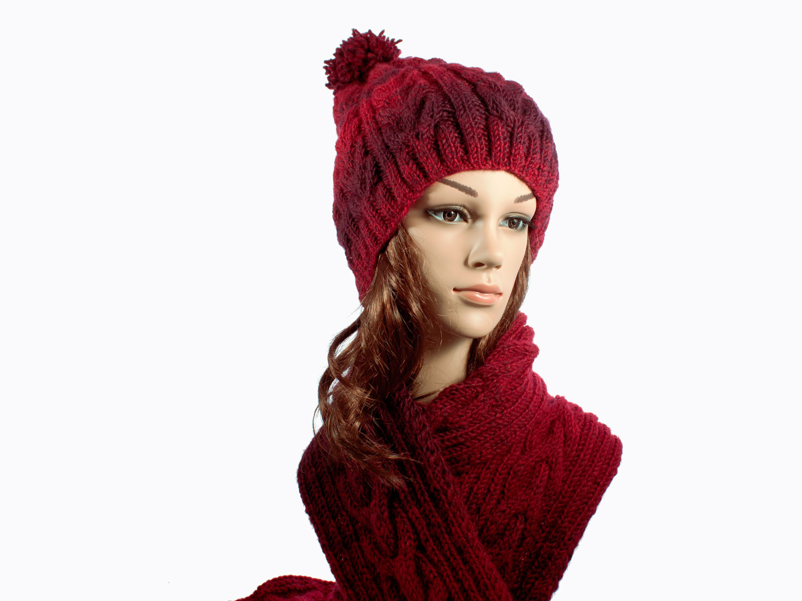 Red Gradient Hat & Scarf