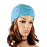 Hand-made blue Spiral hat
