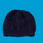 Deep blue Hand-made hat