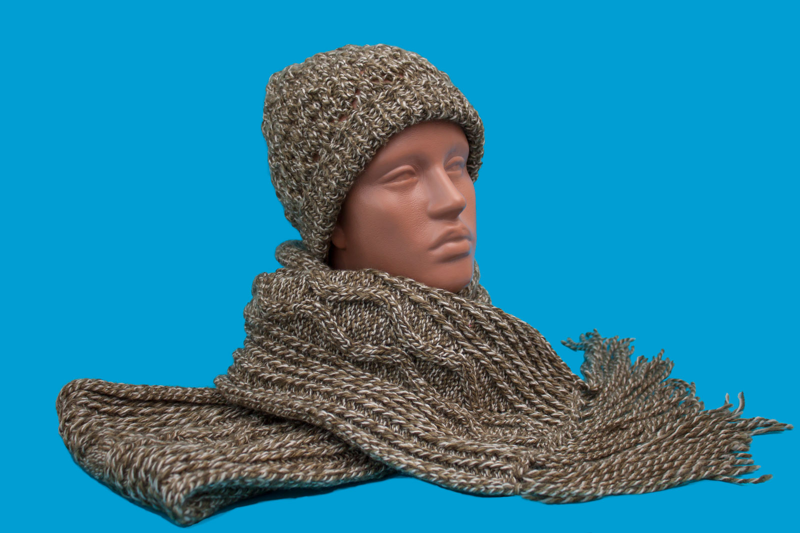 Hand-made hat and scarf